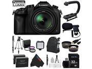 Panasonic Lumix DMC-FZ1000 4K QFHD/HD 16X Long Zoom Digital Camera + Videographer's Essentials Kit