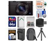 Sony Cyber-Shot DSC-RX100 III Wi-Fi Digital Camera with 64GB Card + Battery & Charger + Case + Flex Tripod + Kit