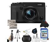 Fujifilm X30 12 MP Digital Camera with 3.0-Inch LCD (Black) + 64GB Pixi-Advanced Accessory Bundle