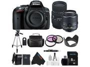 Nikon D5300 Digital SLR Camera Body Black with Nikon 18-55mm VR II Standard Zoom Lens + Sigma 70-300mm f/4-5.6 SLD DG Macro Lens + Pixi-Basic Accessory Bundle