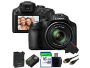 Panasonic Lumix DMC-FZ70 16.1MP Digital Camera + 16GB Pixi-Basic Accessory Bundle