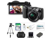 Sony a5100 ILCE5100 with 16-50mm Interchangeable Lens Camera with 3-Inch Flip Up LCD + 64GB Pixi-Basic Carry Case Kit