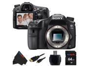 Sony A77II ILC-A77M2 A77M2 a77 II Digital SLR Camera [Body Only] + 64GB Pixi-Basic Accessory Bundle