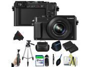 Panasonic Lumix DMC-LX100 Digital Camera (Black) + Pixi-Advanced Accessory Bundle