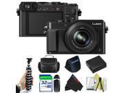 Panasonic Lumix DMC-LX100 Digital Camera (Black) + Pixi-Basic Accessory Bundle