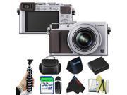 Panasonic Lumix DMC-LX100 Digital Camera (Silver) + Pixi-Basic Accessory Bundle