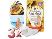 Purederm - 3x Exfoliating Foot Mask Soft Feet Remove Scrub Callus Hard Dead Skin