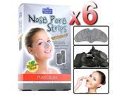 Purederm - 6x Botanical Choice Nose Pore Strips Charcoal Removes Blackhead Salon