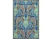 Jaipur BA61 Floral   Blue/Ivory Indoor-Outdoor Area Rug ( 3.6x5.6 )
