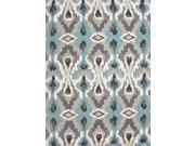 Jaipur BR45 Hand-Tufted Tribal Pattern Polyester Blue/Ivory Area Rug ( 5x7.6 )
