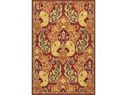 Jaipur BA60 Floral  Polypropylene Red/Orange Indoor-Outdoor Area Rug ( 2x3 )
