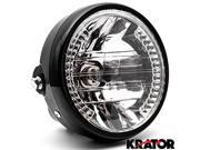 Krator 6.75'' Universal Black Motorcycle Headlight + Turn Signals LED Indicator H4 Bulb 9SIABK75A14626