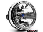 Krator 7.75'' Chrome Headlight H4 Bulb Round Lamp for Suzuki Savage LS 650