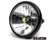 "Krator 6"""" Black LED Motorcycle Headlight w/ Side Mounting Running Light High / Low Beam for Suzuki Boulevard C109R C50 C90"" 9SIABK75HZ1839"