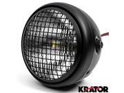 "Krator 7"""" Black LED Motorcycle Headlight w/ Side Mounting Running Light High / Low Beam for Suzuki Boulevard C109R C50 C90"" 9SIABK75HZ4466"