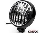 "Krator 6"""" Black & Chrome Motorcycle Headlight with Grill High Low Headlamp Bottom Mount for Kawasaki VN Vulcan Classic Drifter 800"" 9SIABK75HZ1963"