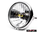 "Krator 6"""" Chrome LED Motorcycle Headlight w/ Side Mounting Running Light High / Lo Beam for Kawasaki VN Vulcan Classic Drifter 800"" 9SIABK75HZ3776"