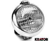 Krator Universal Chrome Motorcycle Headlight with Bracket For Honda VTX 1800 TYPE C R S N F T RETRO