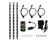HitLights Eclipse LED Light Strip Media Center Kit, Black - RGB Multicolor SMD 5050 - 3 x 1 Foot Strips, Controller, Power Supply and Connectors  - Adhesive Backed - Color Changing LED Tape Light