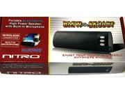 NITRO BMWX-SK36BT Portable High Power Bluetooth Speaker w/ Built-in Microphone and Aux Input (Black) - New