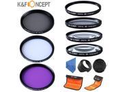 For Nikon 10-24 16-35 18-35 24-70 77mm UV CPL FLD Close up +1+2+4+10 Filter Kit Lens Cap Lens Hood