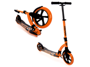 EXOOTER M1550BO 6XL Adult Kick Scooter With Front Shocks and 180mm/240mm Wheels - Vibrant Orange