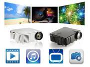 Mini Projector for the Home use Support 720P Smart Phone cheap Tablet PC projector LCD Panel Display 100lms home theater projector with HDMI/VGA/USB/SD port
