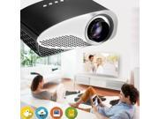 GP8S LED Mini Pocket Projector For Smart phones Mini Led TV Projector Slim Home Projector Market Concept for Children's Games and  Merry Christmas' Gift  Easy Private Cinema Projector
