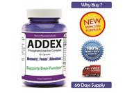ADDEx, Brain Support, Focus,Attention,Depression, Memory, Cognition Help, ADHD Supplement, Unisex,2016