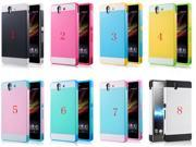 Fahion Bright Summer Colors Hybrid 2 in 1 Shell Back Case Cover Soft Silicone Back Cover Case For Sony Xperia Z L36h