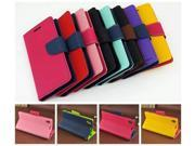 Flip Leather Case for Sony Xperia Z L36H Fashion Series Korean Style Stand Wallet Bags Cover Case CA004