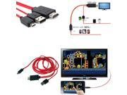 """MHL Micro USB to HDMI TV Adapter Cable For Samsung Galaxy Tab S 10"""" SM-T800 T805"""
