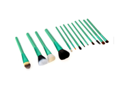 13pcs Professional Makeup Brush Set Cosmetic Brush Kit Makeup Tool with Cup Holder Case Green 9SIA6HJ3423489