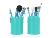 New 12pcs Professional Makeup Brush Set Cosmetic Brush Kit Makeup Tool with Cup Leather Holder Case Blue 9SIA6HJ3424673