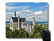 SUN VIGOR  2015 Oblong Shaped Mouse Pad Castle Neuschwanstein As Seen From Marienbrucke Natural Eco Rubber Design Durable Mouse Mat Computer Accessories Gaming