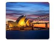 "Professional Mouse Pad Australia Sydney Opera House The City Natural Eco Rubber Mouse Mat - Gaming Laptop Mouse and Pc Desktop Are Accepted - Gaming Mouse Pad 10"" x 11"""