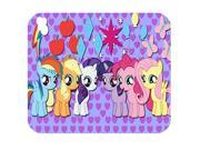 "Rectangle Computer Game Mouse Pad Mat With Lovely Cartoon My Little Pony Image Cloth Cover Non-slip Backing 8"""" x 9"""""" 9SIAC5C5AC7185"