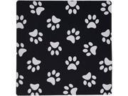 "Black and White Paw Print Pattern Pawprints Cute Cartoon Animal Dog or Cat Footprints Mouse Pad 8"""" x 9"""""" 9SIA6HT4693633"