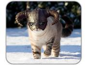 Skyrim Cat Dragonborn Fluffy Animal Majestic Nordic Snow Mouse Pad 10