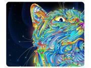 Psychedelic Cat Trippy Artwork Traditional Art Snail Rectangle Mouse Pad 9
