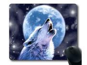 Mouse Mat,The winter night wolf Office Computer Mouse Pad,Custom Mouse Pad Size:9