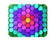 New Arrival Customized Rectangle Color Lattice Mousepad Size:10