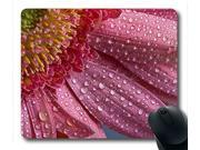 flower water drops Custom Oblong Mouse Pad Rectangle Gaming Rubber Mousepad -UCFO0707L125 Size:9