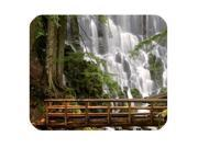 Forest Waterfall Wooden Bridge Mouse Pad - Gamer Gaming Mouse Pad Size:10