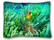 Decorative Standard Pillow Case Animals Clownfish And Anemone