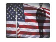 Mouse Pad Natural Rubber Mousepads Great for 4th of July Memorial Day or Veterans day Iron bald eagle a soldier silhouette and an US National flag 27900825 Size 9SIA6HT74F4837
