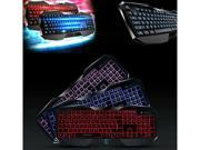 AULA 3 Color LED Illuminated Backlight USB Wired Game Gaming Keyboard for PC