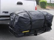 "45"" Expendable Cargo Carrier Bag Hitch Mount Roof Top Rack Luggage Waterproof"