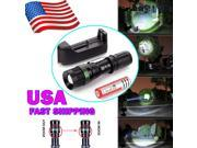 2000 Lumen CREE XM-L T6 LED Flashlight Torch Lamp Zoomable+18650 Battery+Charger