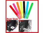 """HQmade 7"""" Cable Tie Ties Strap Colors Velcro tape Adjustable"""